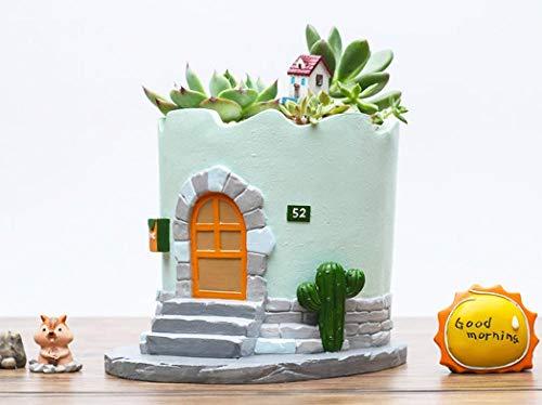 Bloempot met creatieve Retro mediterrane Pastorale Kleine Huis Succulente Bloempot Desktop Micro Landschap Decoratie Ornament Plant Kleine Bloem cabin