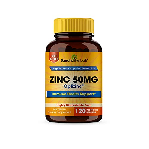 High Potency Zinc 50mg Highly Absorbable Bioavailable Immune Support Booster, Best Zinc for Adults - Zinc Pills Offer High Potency Alternative to Lozenge, Chewable Tablets, Liquid(4 Month Supply)