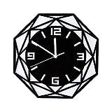 Acrílico Espejo Geometría Reloj de pared Sala de estar Relojes de dormitorio Decoración de oficina en casa Reloj de pared Decoraciones de eid Decoraciones de ramadan para el hogar Reloj de pared grand