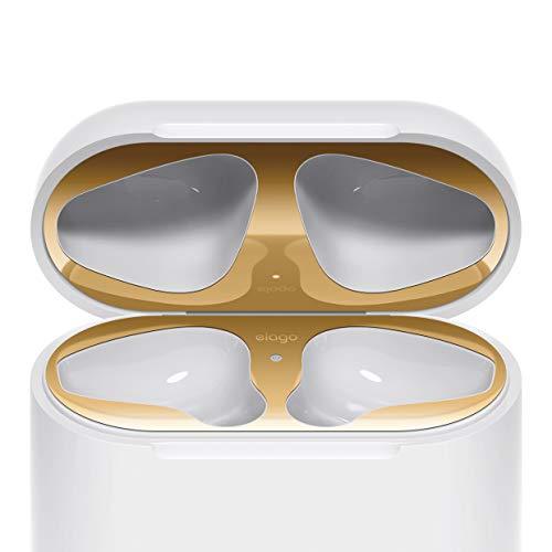 elago Dust Guard Staubschutz Kompatibel mit Apple AirPods 1 & 2 Nur Non-Wireless - [18K Vergoldung]...