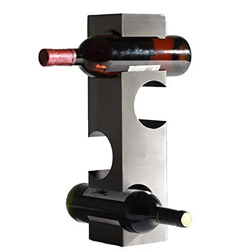 OUYA Inoxidable Botelleros Vino para 4 Botellas, Organizador De Almacenamiento con Soporte De 10 * 40 Cm, Estantes para Vino, Piso Independiente para Decoración Moderna Y Hogar