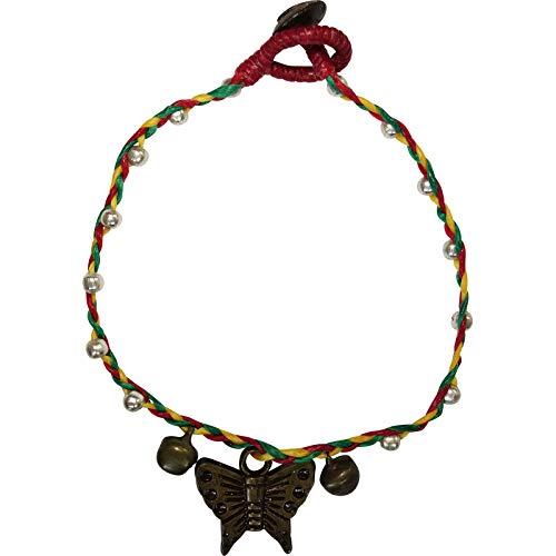 ELLU Butterfly Anklet Chain Ankle Foot Bracelet Womens Jewelry Girls Ladies Jewellery