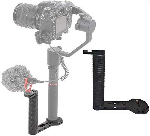 """Sutefoto Doble Empuñadura de Empuñadura con un Tornillo Universal de 1/4"""" Compatible con dji Ronin-s/Ronin SC/Zhiyun Crane 3 / Feiyu Gimbal para Monitor de Video Adaptador Micrófono"""
