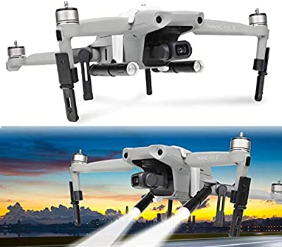 Hensych Landing Gear LED Lamp Set for Mavic Air 2 Drone,Camera Bracket Holder+Foldable Landing Gear + LED Lamp Night Flight Searchlight Kit(Without battery) by Hensych