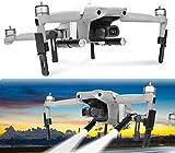 Hensych Train d'atterrissage Lampe à LED Ensemble pour Mavic Air 2 Drone,Caméra Support Titulaire + Pliable Train d'atterrissage + Lampe à LED Vol de Nuit Projecteur Kit (sans Batterie)