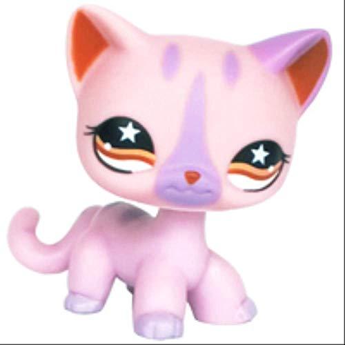 LPS Cat Pet Shop Spielzeug, seltener Ständer, kleine kurze Haare, Kätzchen, Pink #2291 Grau #5 Schwarz #994 alte Original Kitty Figur Kollektion A 933#