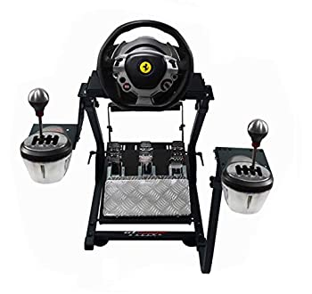 GT Omega Steering Wheel Stand PRO for Thrustmaster T150 Force Feedback Racing Wheel PS4 & Pedals Supporting TX Xbox Fanatec - Foldable Tilt-Adjustable Design for Ultimate Sim Racing Experience