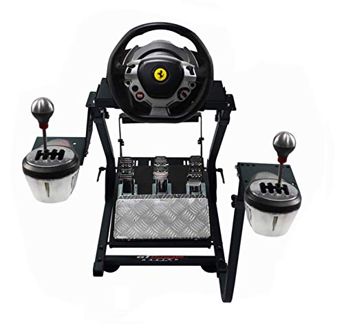 GT Omega Steering Wheel Stand PRO for Thrustmaster T150 Force Feedback Racing Wheel PS4 & Pedals, Supporting TX, Xbox, Fanatec - Foldable, Tilt-Adjustable Design for Ultimate Sim Racing Experience