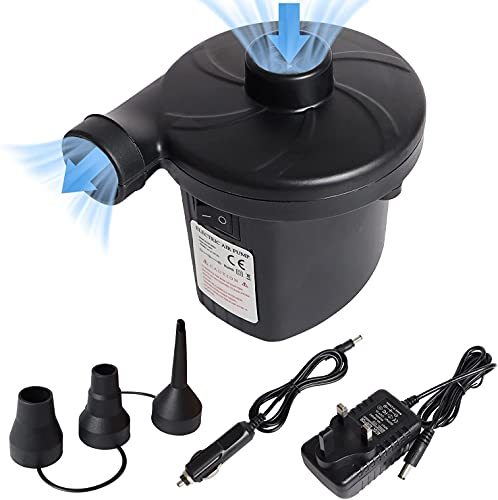 Inflador eléctrico 2 en 1, bomba de aire, inflador y desinflador con...