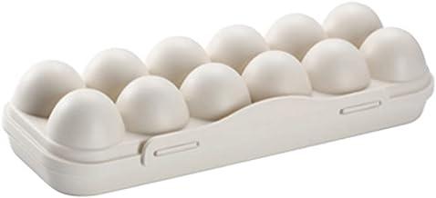 djim45aoy Egg Storage Box Fresh Preservation Egg Organizer Non-deformation Well Protect Khaki 12 Grids