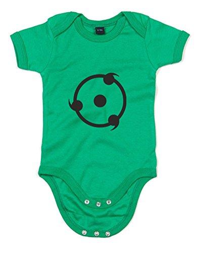 Print Wear Clothing The Sharingan, Imprimé bébé Grandir - Vert/Noir 0-3 Mois