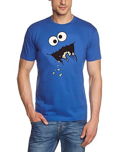 Kekse ! Cookie Monster T-Shirt S M L XL XXL (BLAU, XXL)