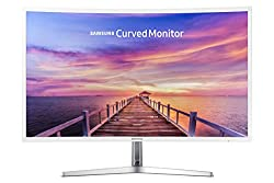 professional Samsung 32-inch full HD TFT LCD monitor with curved LEDs, glossy white Magic Bright FreeSync …