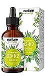 Vitamina D3 + K2 MK-7 en gotas - 5.000 U.I. por 5 gotas - 50ml (1700 Gotas) - Alta dosificación y Alta Bioactivdad con aceite MCT - Premium: K2VITAL® de Kappa 99,7% All Trans
