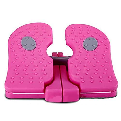 BERTY·PUYI Mini Trainer per Pedali Macchina per Braccia e Gambe da Bicicletta da Tavolo per Bicicletta Portatile-Pink