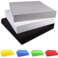 Hojas de Espuma para Manualidades Hojas de Espuma EVA, 9.6 × 9.6 Pulgadas, Paquete de 8, Grosor 3 mm / 5 mm / 7 mm / 10 mm, para Cosplay Costume Paper Scrapbooking Foamie Crafts Cojín para niños