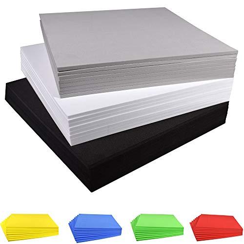e-Craft Fertigen Sie Schaum-Blatt-Eva-Schaum-Blätter, 9.6 × 9.6 Zoll, 8 Satz, Stärke 3mm / 5mm / 7mm / 10mm, für Cosplay Kostüm-Papier Scrapbooking Foamie Handwerk-Kind-Kissen besonders an