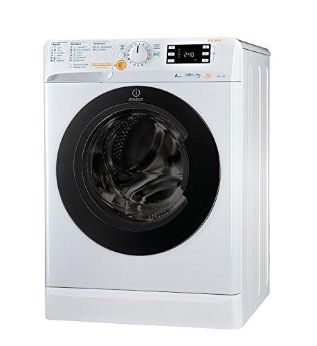 Indesit XWDE 961480X W Waschmaschine, freistehend, Frontlader, A, Weiß, Türanschlag links, Drehknöpfe, 62 l