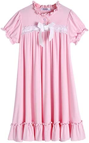 Greatchy Little Girls Dresses White Cotton Vintage Princess Dress for Girl Kids 4 14 Years product image