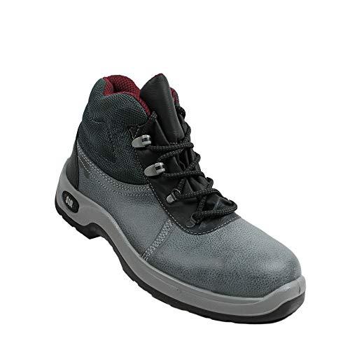 Scarpe di Sicurezza Safety System Sir S3 Lavoro Scarpe lavorando Scarpe Affari Calzature da Trekking Scarpe Grey, Dimensione:39 EU