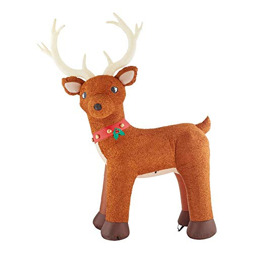 Gemmy 10.5Ft. Tall Christmas Inflatable Airblown Giant Plush Reindeer Indoor/Outdoor Holiday Decoration