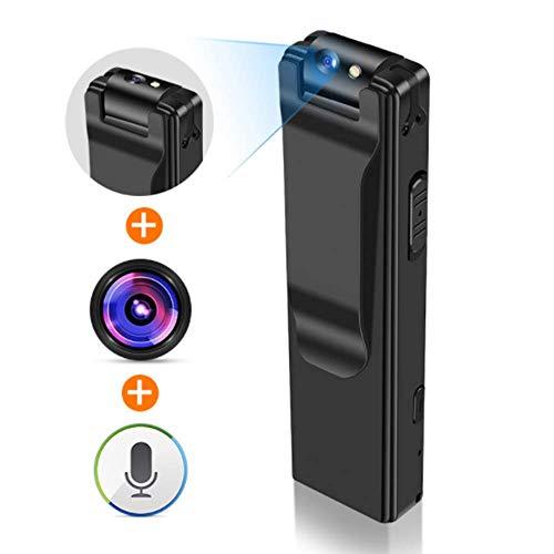 YWT Mini cámara Corporal, grabadora de Video portátil portátil 1080P, cámara de Seguridad de Bolsillo pequeña, Linterna Deportiva, Viaje/Conferencia/entrevista, con Tarjeta 32G
