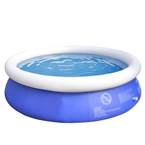 Piscina hinchable rectangular redonda,Seguridad y protección del medio ambiente piscina al aire libre, piscina de remo redonda gruesa y duradera-180 * 73 cm,piscina infantil hinchable grande