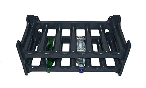 Novaliv Flaschenregal für 12 Flaschen | Weinregal grau |aus stabilem Kunststoff, stapelbar (Anthrazit, 2)