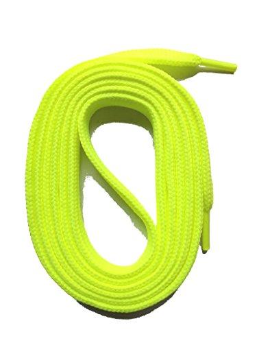 SNORS flache Schnürsenkel NEONGELB 130cm, 7-8mm, reißfest, Polyester, Made in Germany für Sportschuhe Sneaker Turnschuhe und Laufschuhe - ÖkoTex