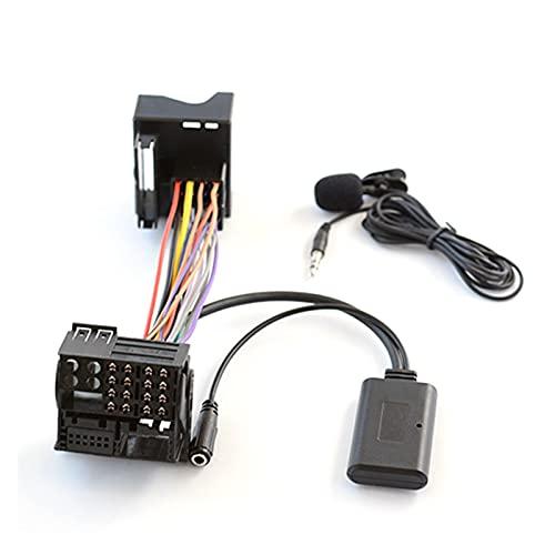 Qinndhto Bluetooth Auxiliar Cable de Audio Llamar a Manos Libres Adaptador de arnés FIT FOR Ford Mondeo Focus 6000CD Adaptadores