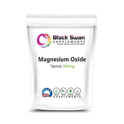 Black Swan Magnesium Oxide Tablets – with Anti-inflammatory Properties – Healthy Muscle – Healthy Bone – Support Energy Level – migraine (60 Tabs)