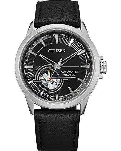 Citizen Herren-Automatikuhr Titan Lederband NH9120-11E