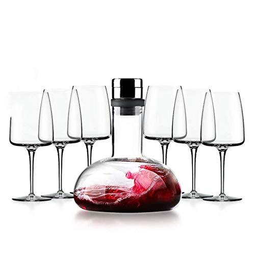 WLA Cascada de Vino de Cristal Cascada Cascada Fast Decanter Set Separador de vinos del hogar 100% Decantador de Cristal sin Plomo 1L (Color : B6)