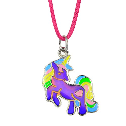 Fun Jewels Fairy Tale Cute Unicorn Pendant Color Change Mood Necklace Gift For Girls