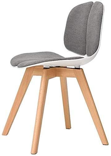 Sessel DBL Massivholz Nordic Stuhl, ergonomische Rückenlehne Stuhl for Home/Schreibtisch/Kreativ Restaurant/Staff Büro/Möbel-Dekoration Weiß 45x45x77CM (Color : White, Size : 45x45x77CM)