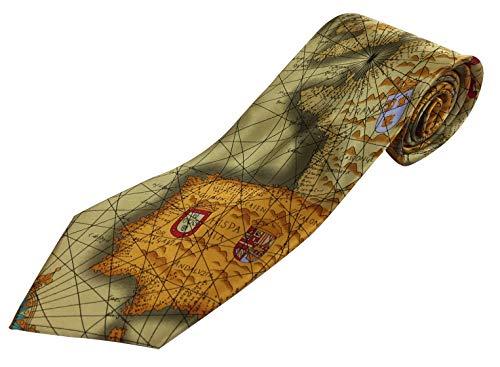 Cravate carte de l'Europe 100% soie (TS-478)