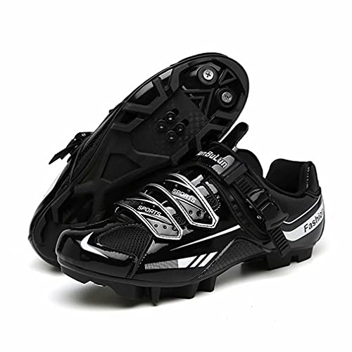 Scarpe da Ciclismo Uomo Strada MTB Specialized Antiscivolo Comode Scarpe da Bici da Corsa Donna Tacchetti Traspiranti Mountain Sportive All'aperto Nero 44