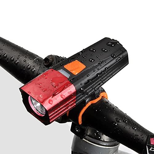 FGKLU 900 Lúmenes PX65 Impermeable Luz Bicicleta, Luces Delantera Bicicleta, Icon Batería Indicador, para Carretera y Montaña- Seguridad para la Noche