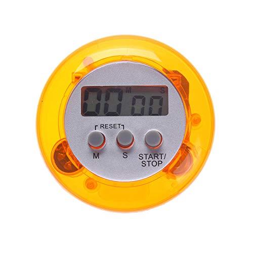 XYXZ Temporizador Magnético De Cuenta Regresiva De Cocina Digital LCD, Soporte Trasero, Temporizador De Cocina, Reloj Despertador, Utensilios De Cocina, Herramientas De Cocina Naranja