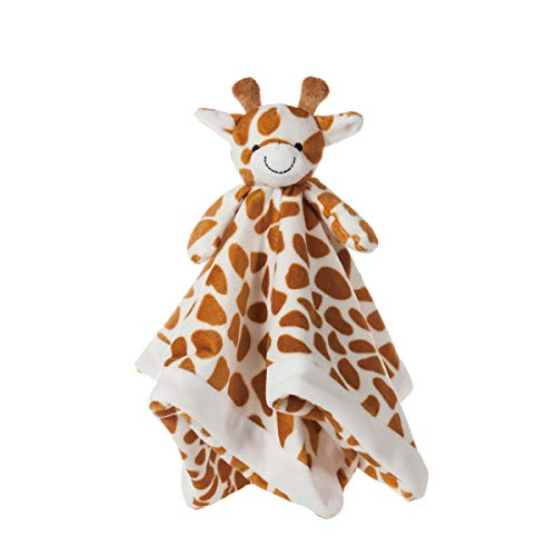 Apricot Lamb Luxury Snuggle Plush Cute Giraffe Infant Stuffed Animals Security Blanket Nursery Character Blanket Yellow Giraffe 14 Inches