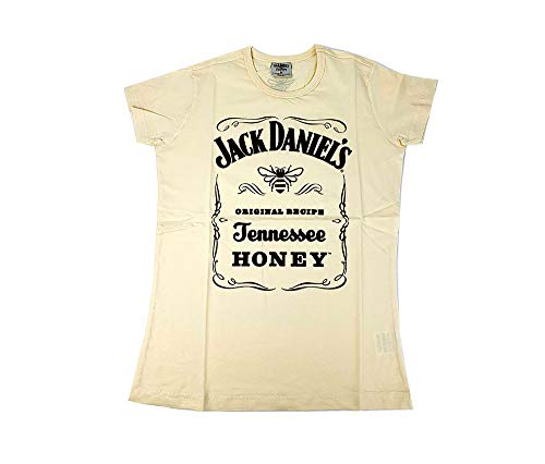 Jack Daniels Honey T-Shirt Damen Grösse M Baumwolle in beige