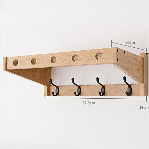 WEBO HOME- Crochets muraux pour salle de bain Cintres muraux pour salle de bain étagères en paroi Cintres créatifs (Couleur : Couleur du bois)
