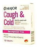 Major Cough & Cold TABS HIGH Blood PRSR CHLORPHENIRAMINE Maleate-4 MG Red 16 Tablets UPC 309045817445