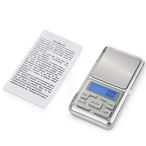 Timetided Mini Precision Digitalwaagen für Gold Bijoux Sterling Silber Waage Schmuck Gewicht Elektronische Waage Elektronische Taschenwaage