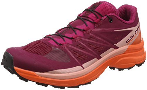 SALOMON Damen Wings Pro 3 W Traillaufschuhe, Rot (Beet Red/Nasturtium/Coral Almond 000), 42 EU