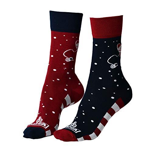 ASTRA Socken Rakete, blau/rot, für Damen & Herren, coole Socken aus St. Pauli (43-46)