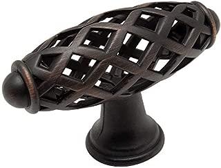 Cosmas 1749ORB Oil Rubbed Bronze Cabinet Hardware Birdcage Knob, 10-Pack