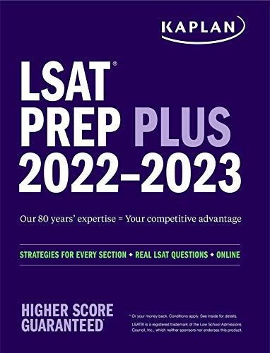 LSAT Prep Plus 2022-2023: Strategies for Every Section + Real LSAT Questions + Online (Kaplan Test P