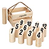 ROPODA Wooden Throwing Game Set, Number Block Tossing Game, Original Game, Outdoor Yard and Lawn Games for Kids and Adults