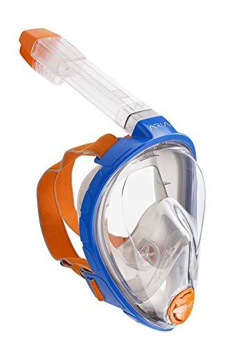 Ocean Reef ARIA snorkelmasker, volledig gezichtsmasker voor Scuba Diving 180 ° gezichtsveld, moeiteloos ademen, anti-lek/beslagsysteem en Dry Top